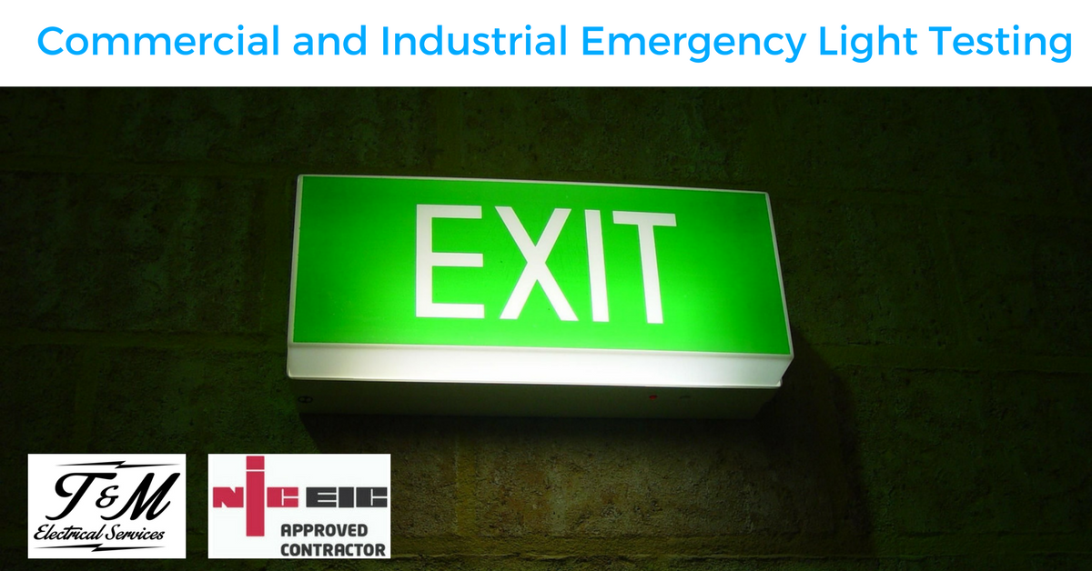Commercial and Industrial Emergency Lighting Testing